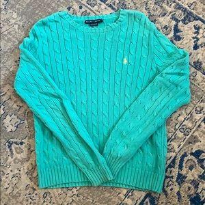 Vintage Ralph Lauren cable knit cotton sweater